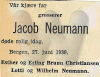 Jakob Neumann's dødsanonse